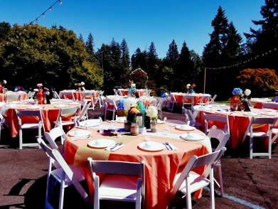 Portland Oregon Wedding Venue, Garden, Rustic, Farm Wedding, String lights, outdoor patio, venue
